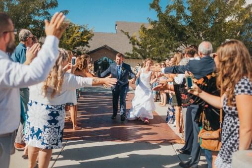 wedding photography Meridian Idaho Valley Shepherd Church wedding exit