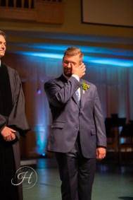wedding photography Meridian Idaho Valley Shepherd Nazarene first look groom crying