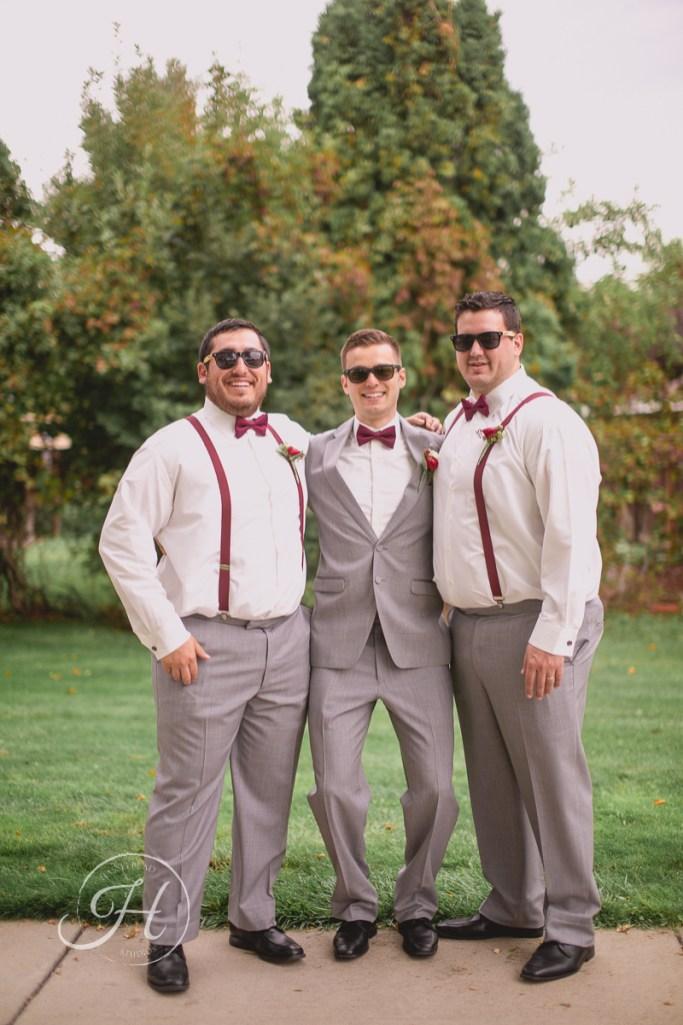 Downtown Boise wedding photography wedding photographer Idaho groom and groomsmen sunglasses