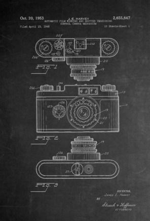 Vintage Camera Patent Diagram