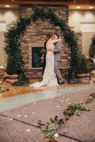 first kiss wedding photography LA wedding photographer Barber Park Event Center wedding