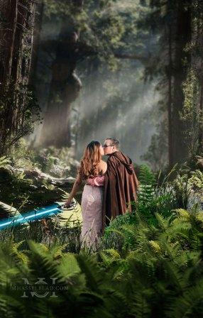 Star Wars Engagement Shoot Wedding Photographer Los Angeles CA (1)