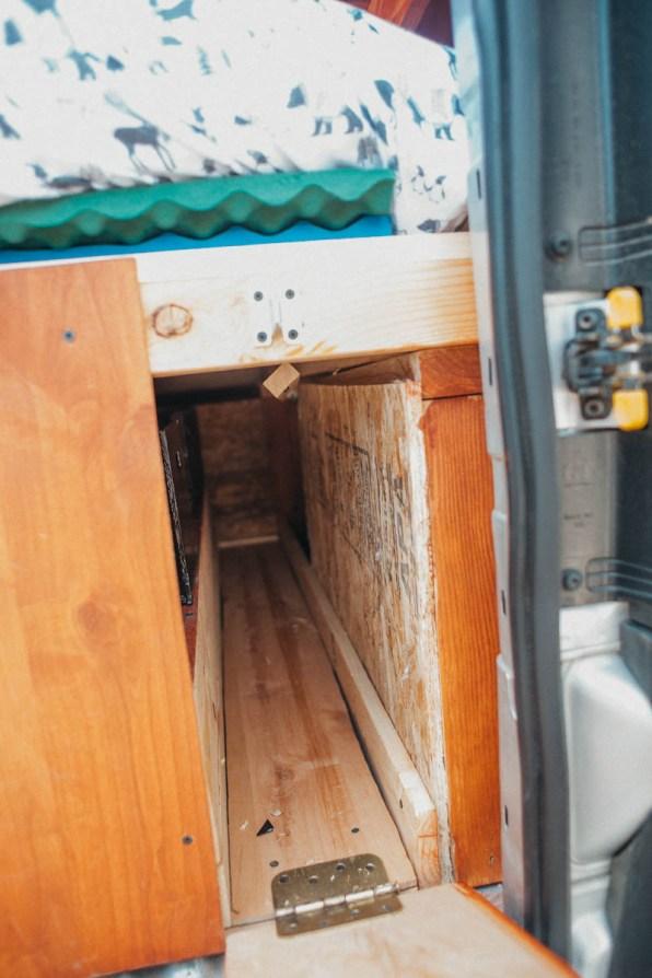 Dodge Ram Promaster City Van Conversion Shelves and storage