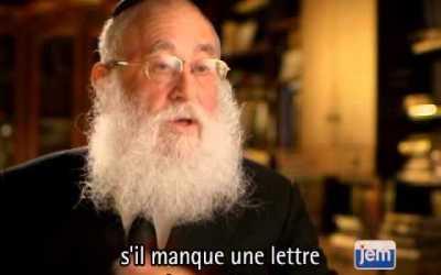 Vidéo du Rabbi : Le pouvoir d'une lettre