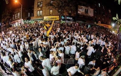 New York : Plusieurs milliers de personnes au Sim'hat Beth Hachoeva de Crown Heights