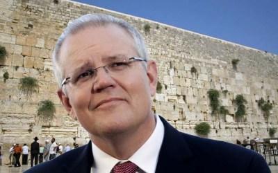 """Le premier ministre australien Scott Morrison : """"l'Australie prête à reconnaître Jérusalem comme capitale d'Israël"""""""