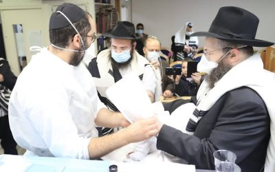 """Mazal Tov ! Israel Arie Leib et Bra'ha Lubecki, Chlou'him au Kremlin Bicêtre, à l'occasion de la Brit Milah de leur fils """"Chmouel"""""""