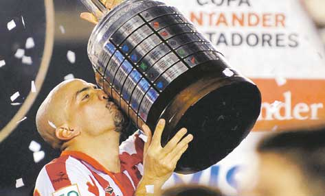 'The greatest player in Estudiantes' history' according to his dad...