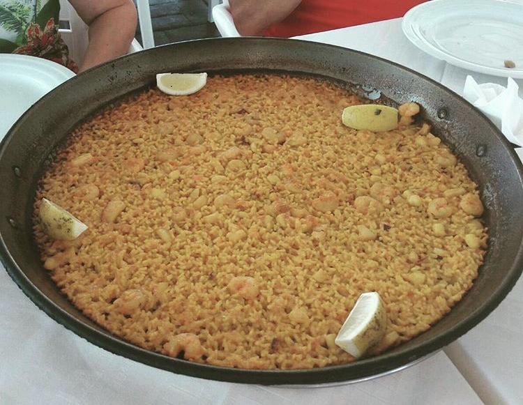 paella arroz a banda el saler pinedo