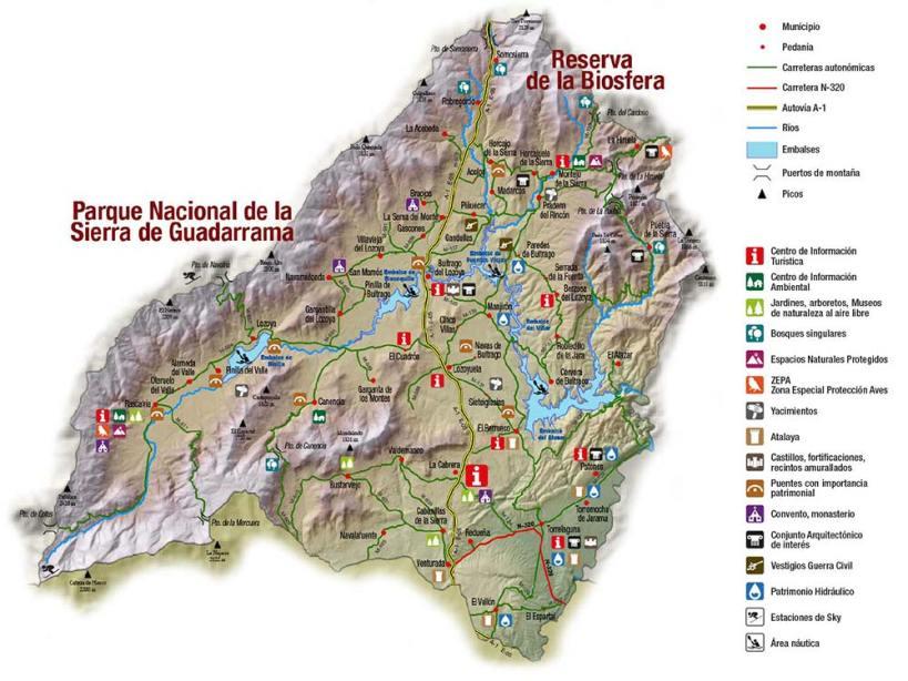 Mapa Sierra Norte de Madrid