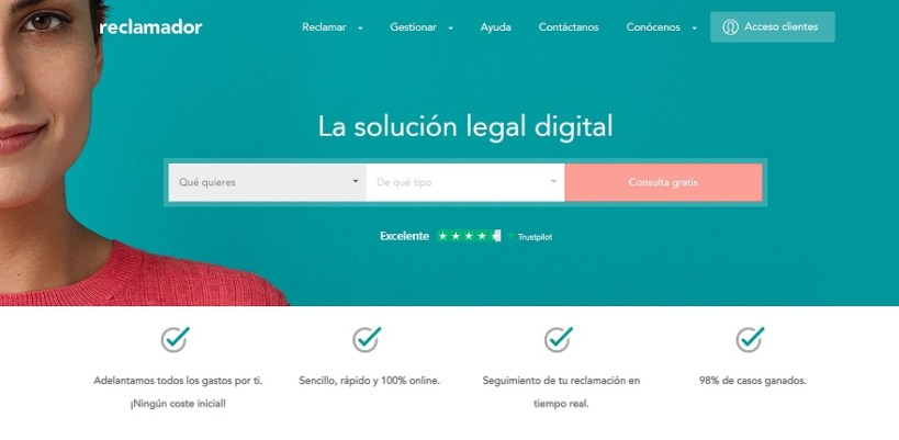 web de reclamaciones online reclamador