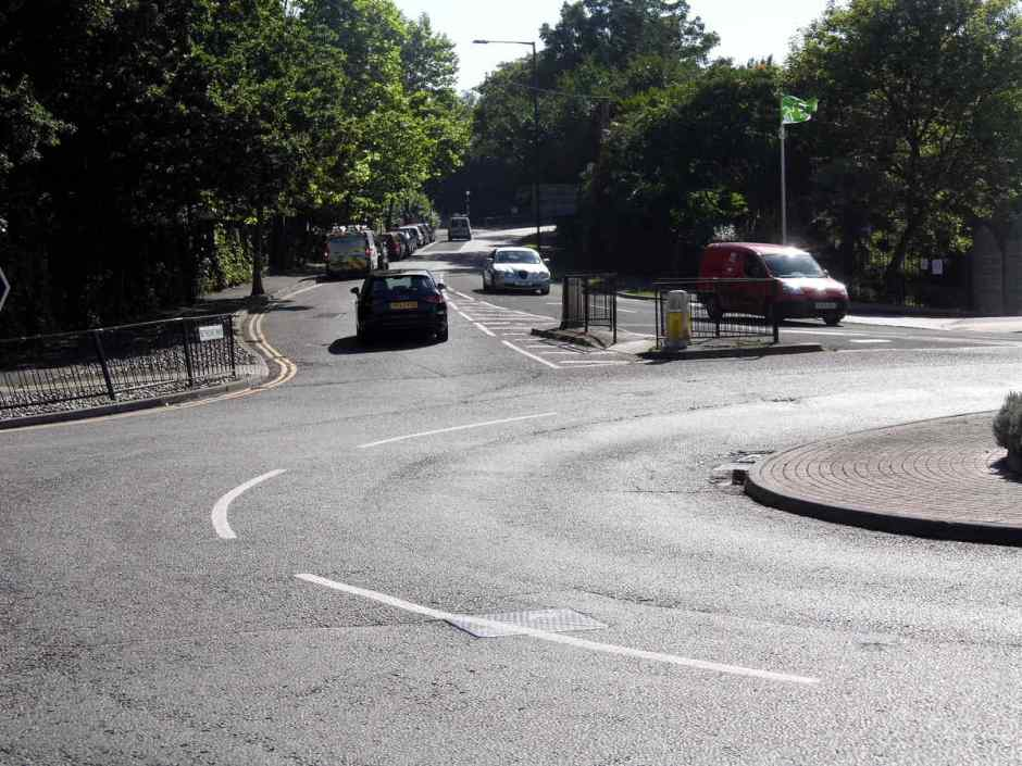 The Alexandra Park/Queens Road roundabout, Hastings.