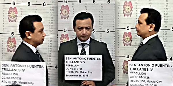 Antonio Trillanes IV mugshots