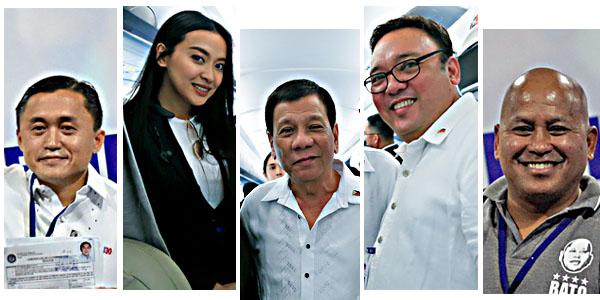 Bong Go Mocha Uson Rodrigo Duterte Harry Roque Bato Dela Rosa