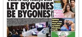 Hataw Frontpage Duterte kay Hidilyn Diaz LET BYGONES BE BYGONES