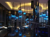 Pretty blue lights at Melbourne Casino