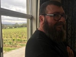 David Wine Tasting Yarra Yering Vinery