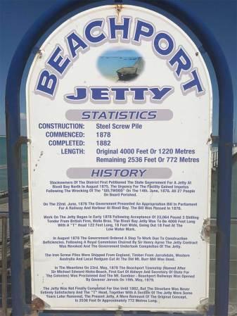Beachport Jetty sign