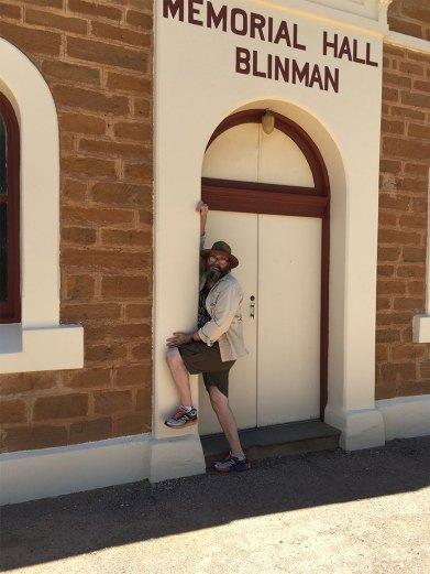 David posing at Blinman Memorial Hall