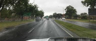 Road driving wet