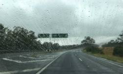 Raindrops and wipers