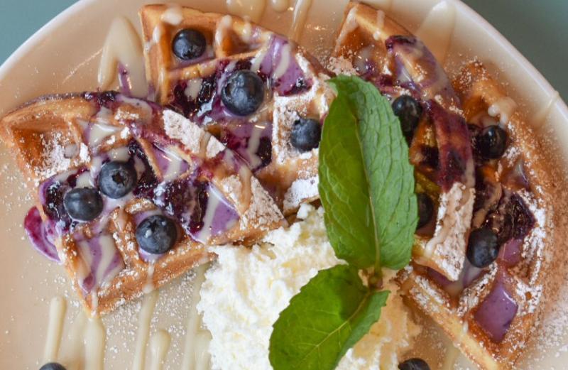 Hatch's Blueberry Streusel Waffle