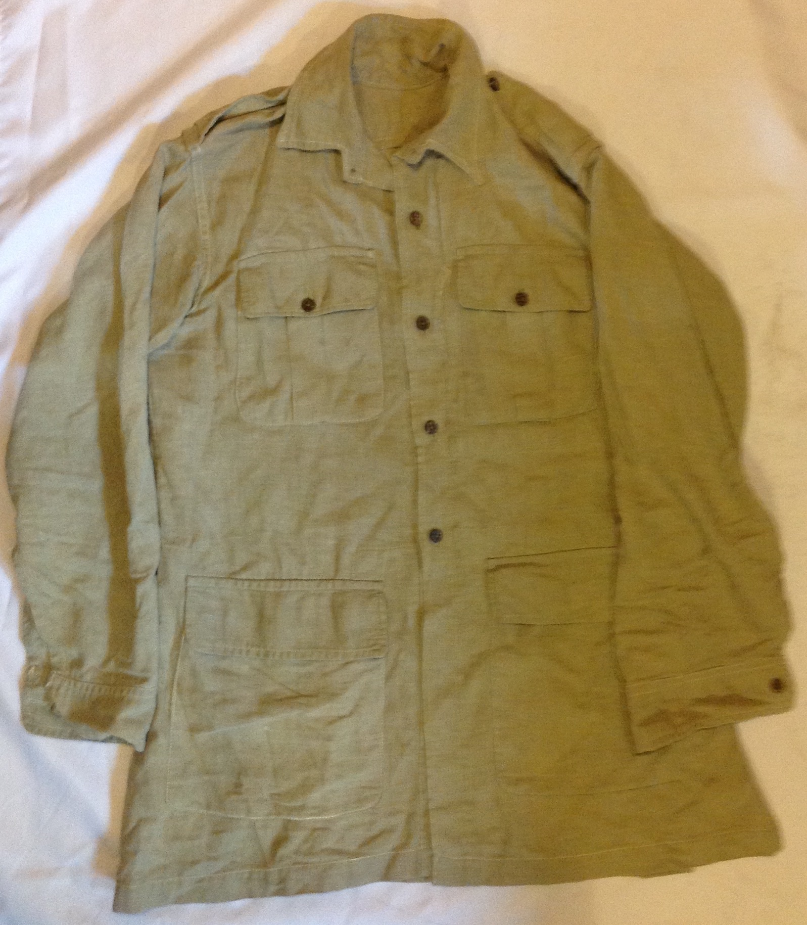Indian Made Aertex Bush Jacket Tales From The Supply Depot