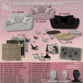 [ht home] swallow's nest - gacha key