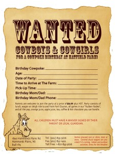 Printable Cowpoke Invitation