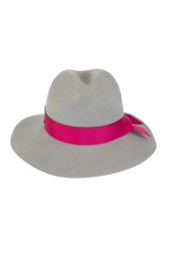 kapelusz indy wiązany różową wstążką