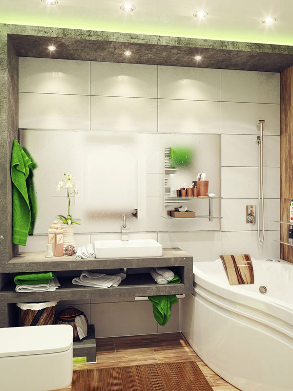 100 Small Bathroom Designs & Ideas - Hative on Simple Small Bathroom Ideas  id=49921