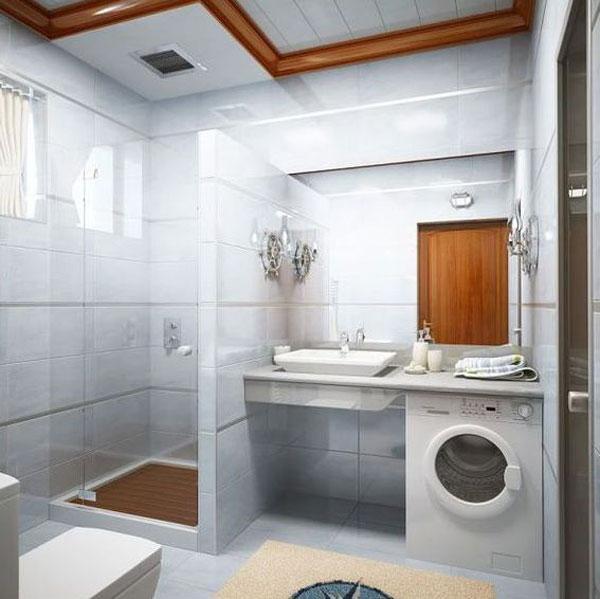 100 Small Bathroom Designs & Ideas - Hative on Small Space Small Bathroom Ideas With Washing Machine id=78088