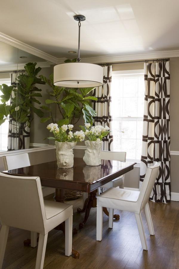 40+ Beautiful Modern Dining Room Ideas - Hative on Dining Room Curtains Ideas  id=78148