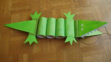 36 crocodile paper roll crafts