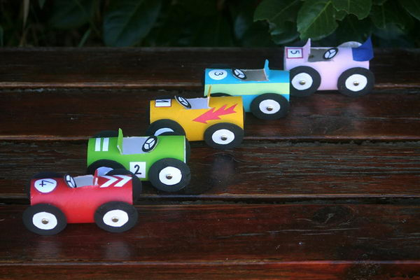 Then press the car's start button. 20 Homemade Transport Themed Toilet Paper Roll Crafts - Hative