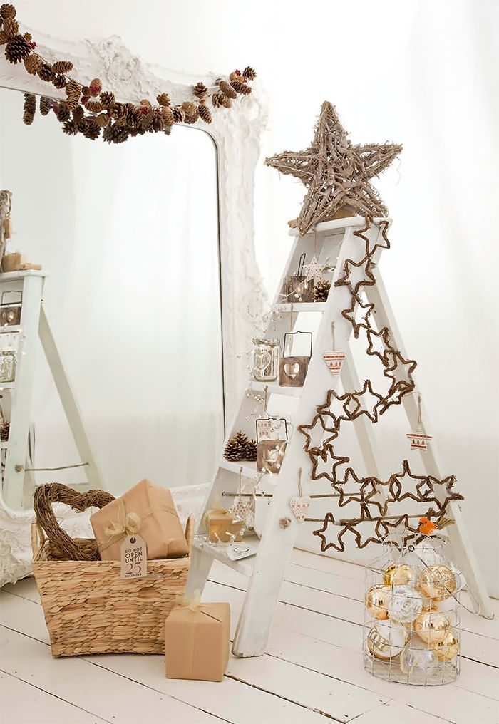Get started on this fun and easy craft today. 20 Creative Ladder Ideas for Home Decoration - Hative