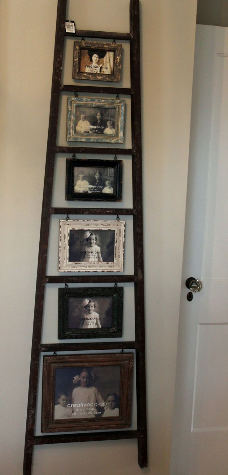 20 Creative Ladder Ideas for Home Decoration - Hative on Picture Hanging Idea  id=84293