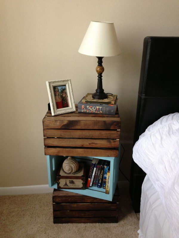 30 Creative Nightstand Ideas for Home Decoration - Hative on Cool:gixm0H5Sni4= Bedroom Ideas  id=47088