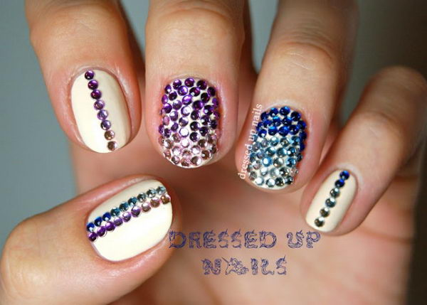 Blinging Rhinestones 3d Nail Art Is A Technique For Decorating Nails That