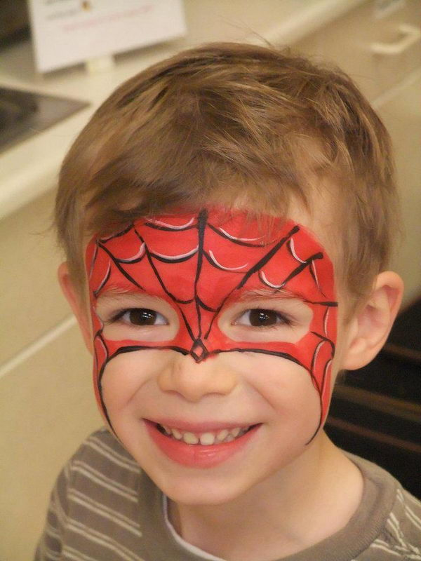 30 Cool Face Painting Ideas For Kids   Hative Spiderman Face Paint
