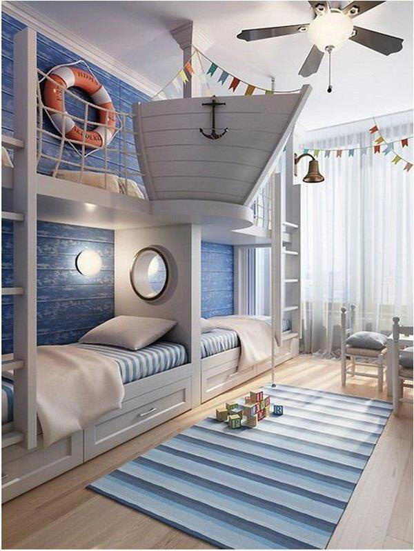 25 Nautical Bedding Ideas for Boys - Hative on Cool:gixm0H5Sni4= Bedroom Ideas  id=75631