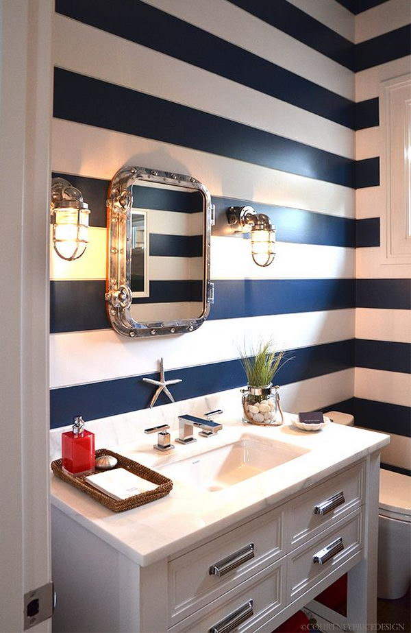 You not only have to pick a color but have to choose a finish and a brand as well. 20 Creative Nautical Home Decorating Ideas - Hative