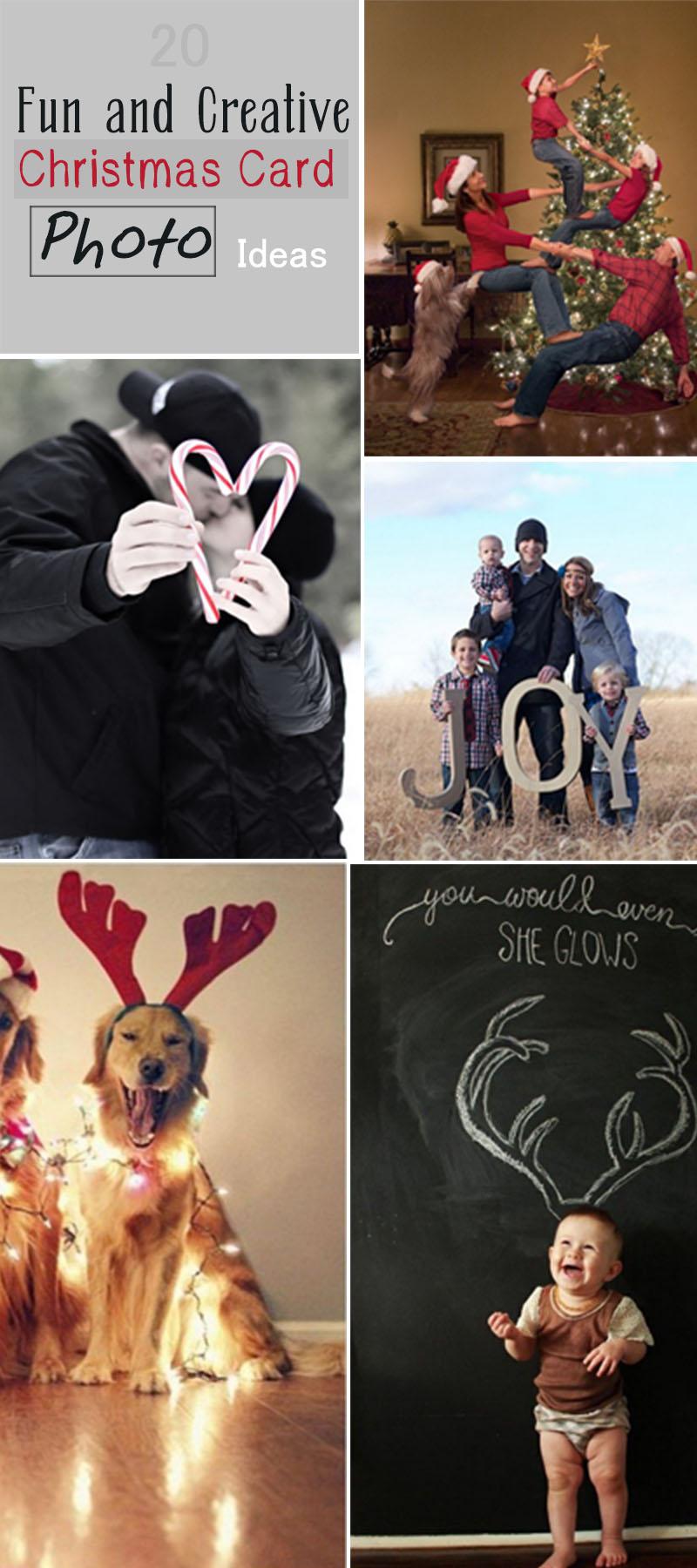 20 Fun And Creative Christmas Card Photo Ideas Hative