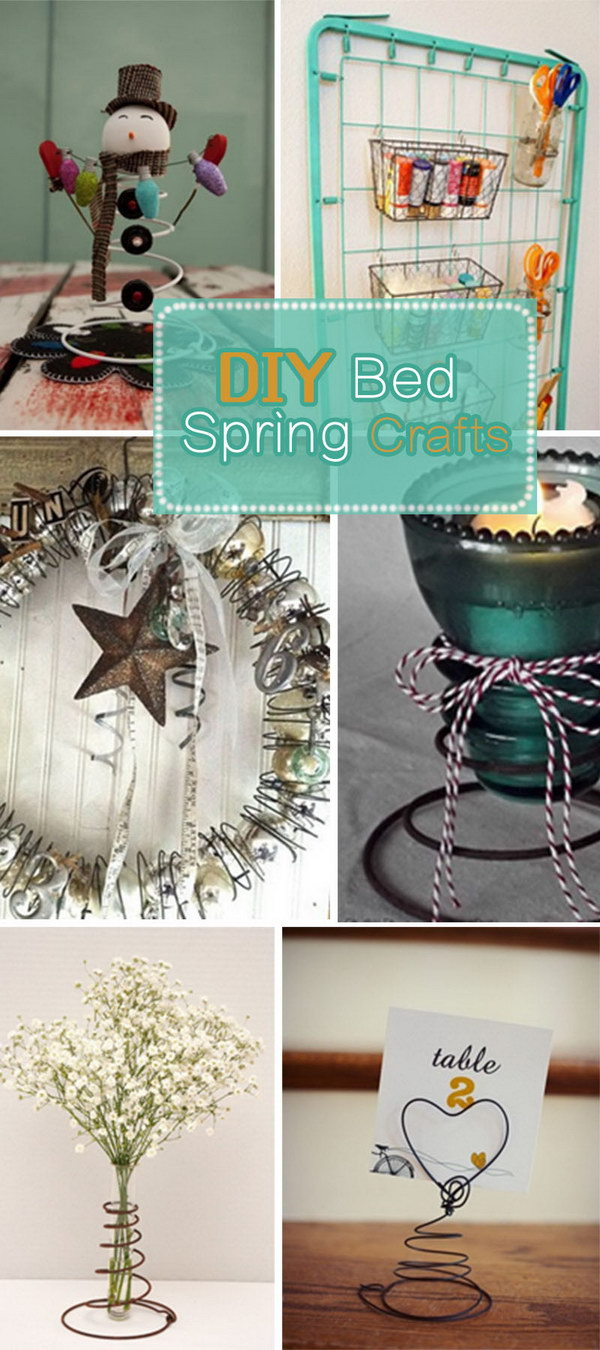 DIY Bed Spring Crafts Hative
