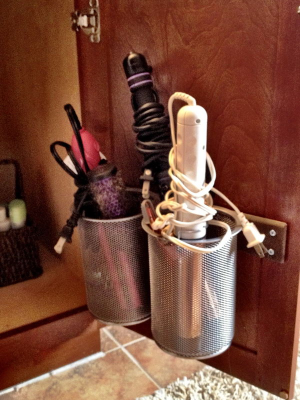 Creative Hair Dryer and Curling Iron Storage Ideas - Hative on Iron Stand Ideas  id=87545