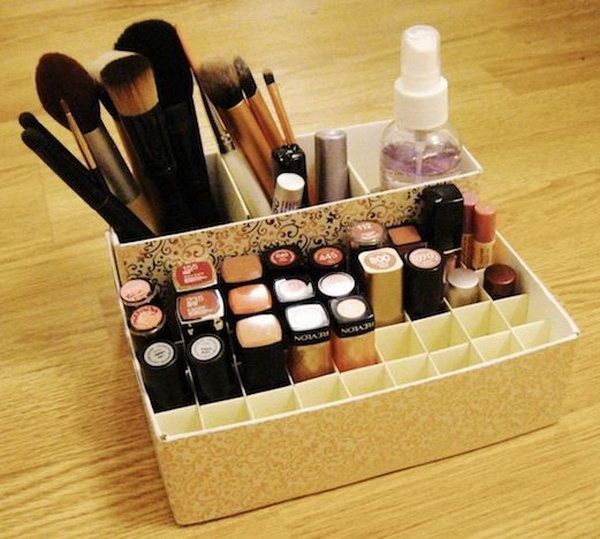 Makeup Holder From Cereal And Oatmeal Bo This Incredibly Simple Organizer For Is Made