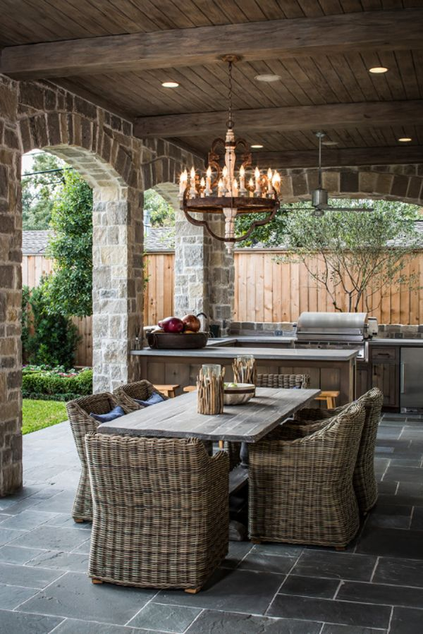 25 Cool and Practical Outdoor Kitchen Ideas - Hative on Patio Kitchen  id=54904
