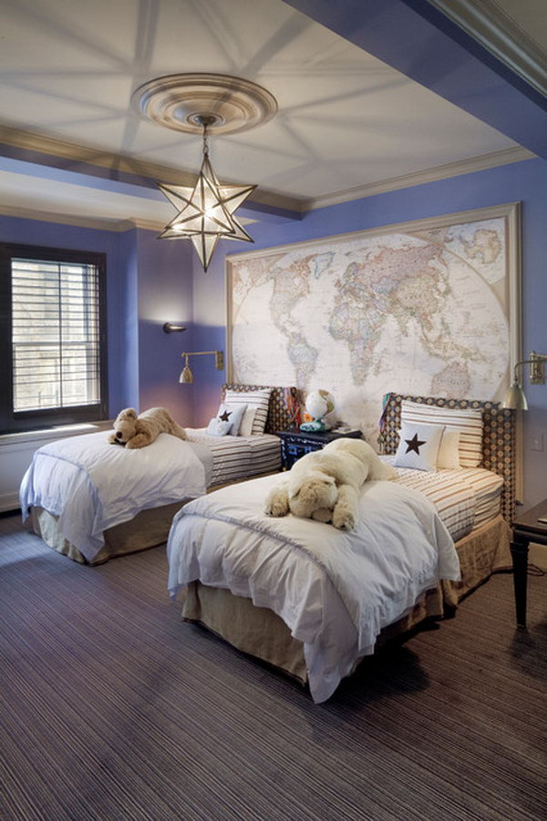 A great color combo to use with purple is a black and white combination. 80 Inspirational Purple Bedroom Designs & Ideas - Hative