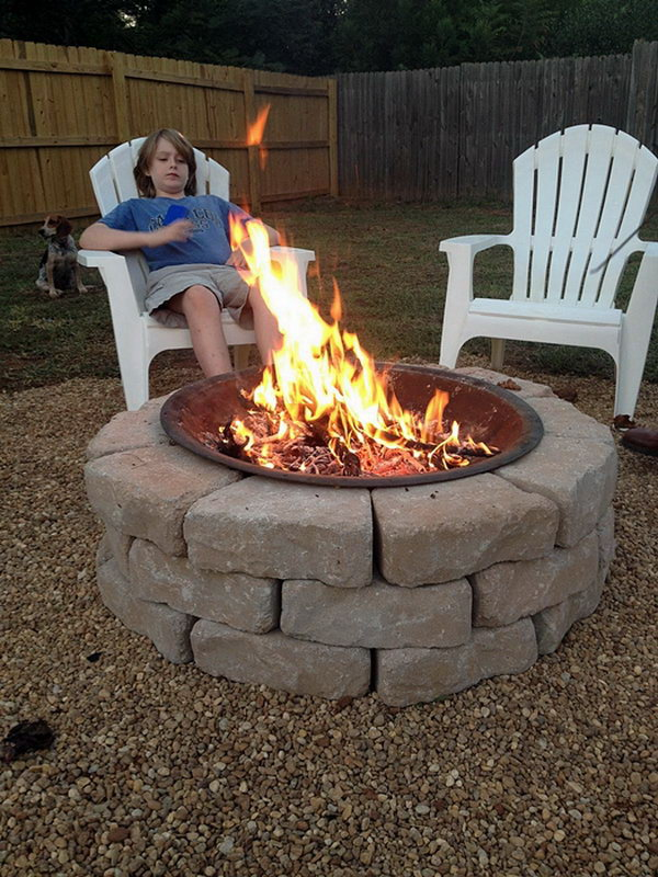 35 DIY Fire Pit Ideas - Hative on Garden Ideas With Fire Pit id=83557
