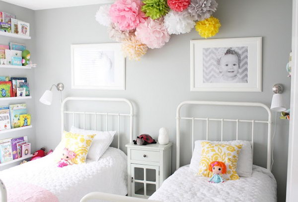 40+ Cute and InterestingTwin Bedroom Ideas for Girls - Hative on Pretty Room Decor For Girl  id=28003